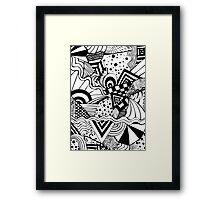 Zentangle Framed Print