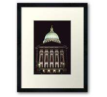 Wisconsin Capitol at Night Framed Print