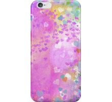 Grunge hearts abstract art I iPhone Case/Skin