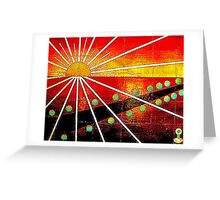 near the border Greeting Card