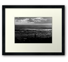 Fishing From The Rocks Framed Print