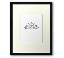 Princess crown Framed Print