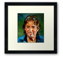 portrait of Al Pacino Framed Print