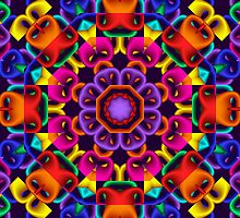The Happy Kaleidoscope, fractal abstract art by walstraasart