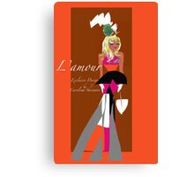 L'Amour, Exclusive design by Artist Carolina Sherwani Canvas Print