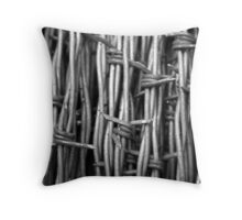 """Barbed Wires"" Throw Pillow"