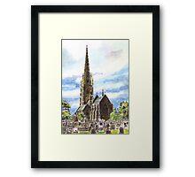 """The """"Marble Church"""" Bodelwyddan, Wales. Framed Print"""