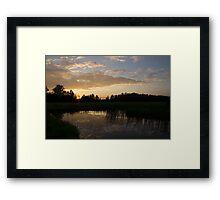 Hot Summer Sunset at the Farm Framed Print