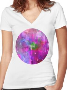 midnite Purple Women's Fitted V-Neck T-Shirt