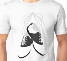 Saddle Shoes-White Unisex T-Shirt