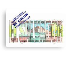 Cien colones antigua moneda nacional Canvas Print