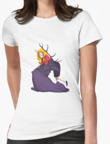 Bedelia and the Nightmare Stag Womens Fitted T-Shirt
