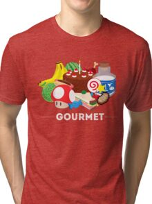 Gourmet - Video Game Food Tee Tri-blend T-Shirt