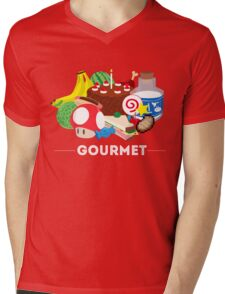 Gourmet - Video Game Food Tee Mens V-Neck T-Shirt
