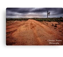 Country Road from Outback Australia Canvas Print