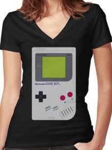 game boy hand held Women's Fitted V-Neck T-Shirt