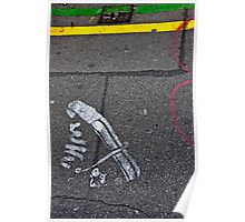 Sidewalk Art Poster