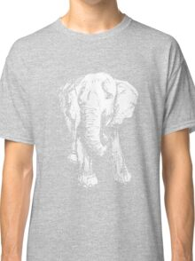 Elephant Sketch (Inverted) Classic T-Shirt