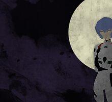 Rei Moon Poster by Kieren Solmundson