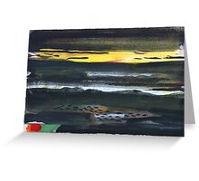 Dark Landscape Greeting Card