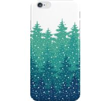 Winter Holiday background iPhone Case/Skin
