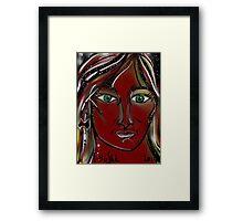 Flame Trees - Australia Day Girl Framed Print