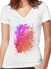 joy at play Women's Fitted V-Neck T-Shirt