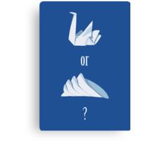 Swan or Sydney Opera House? Canvas Print