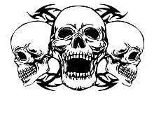 Born To Ride Three Skulls by kwg2200