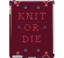 Knit or Die iPad Case/Skin