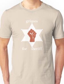 Grimes For Sheriff! Inspired by Hunter S Thompson Unisex T-Shirt