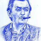 Stanley Kubrick portrait by Francesca Romana Brogani