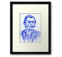 Stanley Kubrick portrait Framed Print