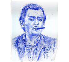 Stanley Kubrick portrait Poster