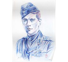 Edward Corringham Mannock portrait Poster