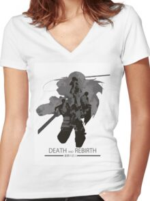 Death and Rebirth Women's Fitted V-Neck T-Shirt