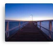 Sunset over Port Melbourne Canvas Print