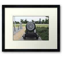 Cannon Face - Beware! Framed Print