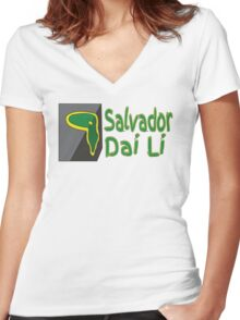 Salvador Dai Li Women's Fitted V-Neck T-Shirt