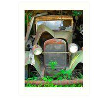 old vintage truck Art Print