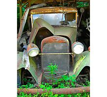 old vintage truck Photographic Print