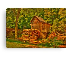 Old Grist Mill  hdr Canvas Print