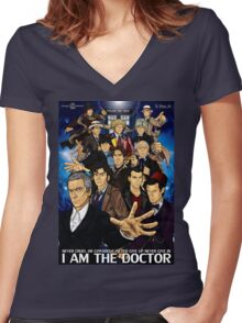 The 12 Doctors Women's Fitted V-Neck T-Shirt