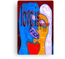 LOVE IS 2 Canvas Print