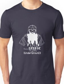 Hipster Dwarf (Dark Background) Unisex T-Shirt