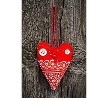Handmade fabric heart Photographic Print