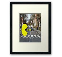 pac-man abbey road Framed Print