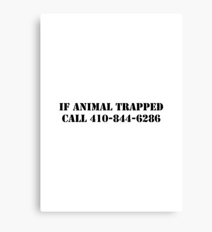 The Wire - If Animal Trapped Canvas Print