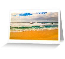 Tri color beach Greeting Card