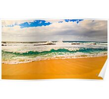 Tri color beach Poster